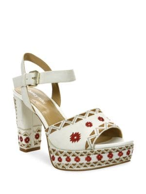 Emila Embroidered Dress Sandals by Luxury Rebel