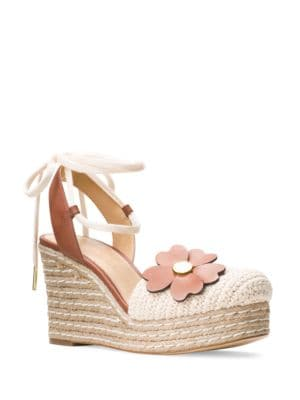 Kit Leather Espadrille Wedges by MICHAEL MICHAEL KORS