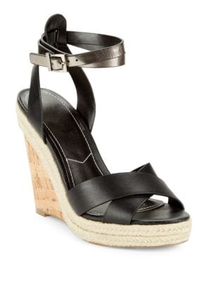 Brit Wedge Ankle-Buckle Sandals by Charles by Charles David