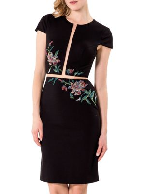 Solid Embroidered Dress by Glamour by Terani Couture