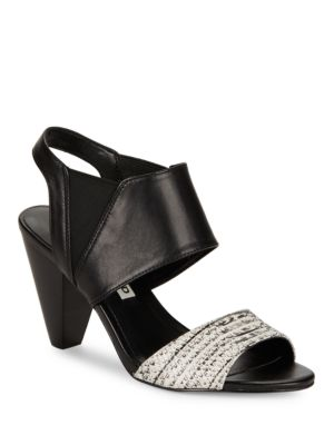 Floquet8 Contrast Slingback Sandals by Karl Lagerfeld Paris