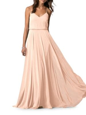 Inesse Chiffon Gown by Jenny Yoo
