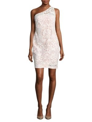 Lace One-Shoulder Dress by Calvin Klein