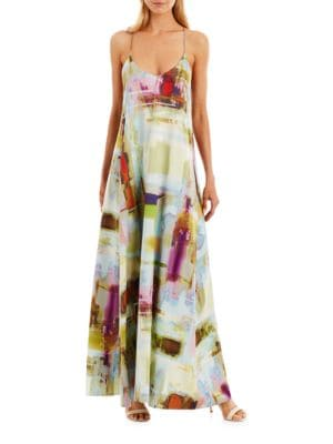 Abstract-Printed Gown by Nicole Miller New York