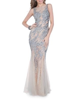 Terani Couture Embellished Mermaid Gown by Glamour by Terani Couture