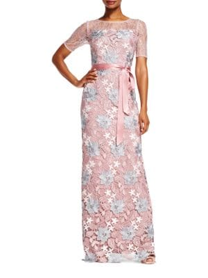 Laced Floral Gown by Adrianna Papell