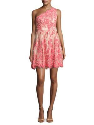 Lace Fit-&-Flare Dress by RACHEL Rachel Roy
