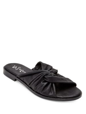 Relax Leather Slide Sandals by Matisse