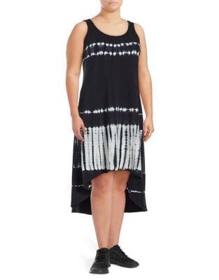 Plus Tie-Dye Hi-Lo Dress 500086888037
