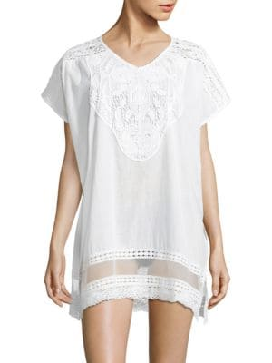 Lace V-Neck Cotton Tunic by Amita Naithani