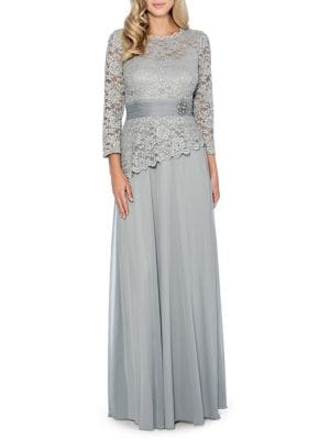 Studded Lace Gown by Decode 1.8
