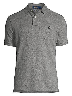9e2e4778e387cd Polo Ralph Lauren - Custom Slim-Fit Cotton Mesh Polo - lordandtaylor.com