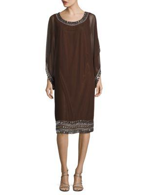 Embellished Caftan Dress by J Kara
