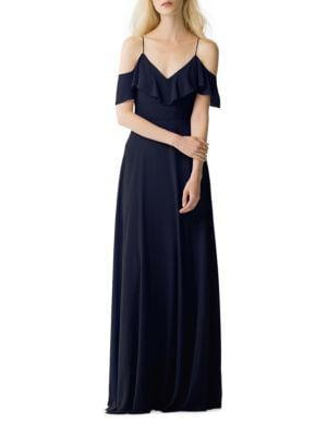 Mila Solid Cold-Shoulder Dress by Jenny Yoo