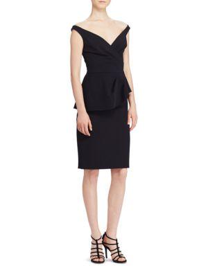Peplum Crepe Dress by Lauren Ralph Lauren