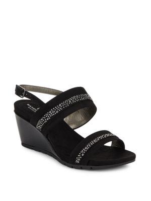 Greedson Embellished Wedge Sandals by Bandolino