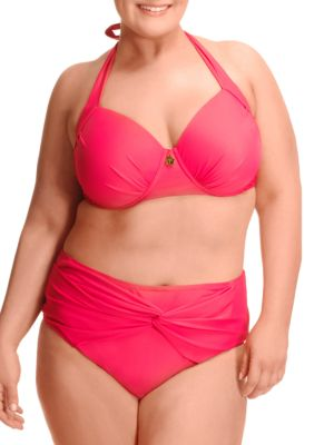 Plus Underwire Halter Bikini Top by PARAMOUR