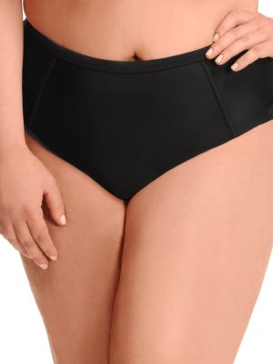 Solid High-Waist Bikini Bottom by PARAMOUR