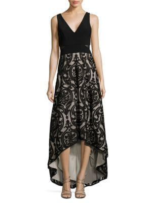 Mesh Floral Embroidered Dress by Xscape
