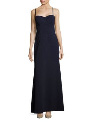 Solid Sweetheart-Neckline Gown by Vera Wang