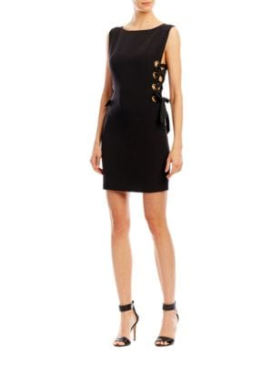Side Lace-Up Dress by Nicole Miller