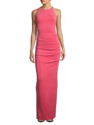 Crossed Back Column Gown by Nicole Miller