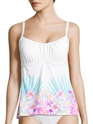 Floral-Print Squareneck Tankini by Coco Reef