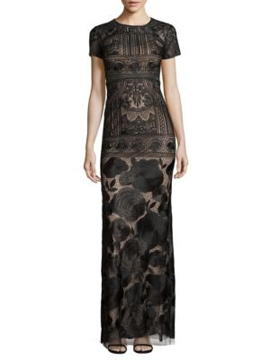 Embroidered Overlay Gown by Marchesa Notte