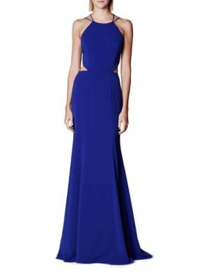 Solid Fit-&-Flare Gown by Marchesa Notte
