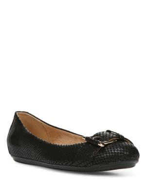 Bayberry Leather Buckle Ballet Flats by Naturalizer