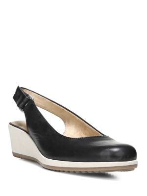 Bridget Leather Slingback Wedge Pumps by Naturalizer