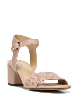 Caitlyn Leather Block Sandals by Naturalizer