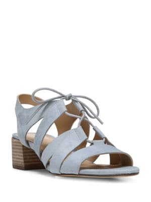 Felicity Suede Block Heel Sandals by Naturalizer