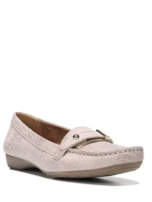Photo of Gisella Snake Embossed Leather Loafers by Naturalizer - shop Naturalizer shoes sales