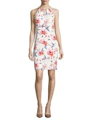 Floral Halter Dress by Betsy & Adam