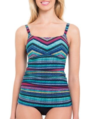 Printed Stretch Tankini by Profile By Gottex