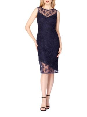 Sleeveless Lace Sheath Dress by Tahari Arthur S. Levine