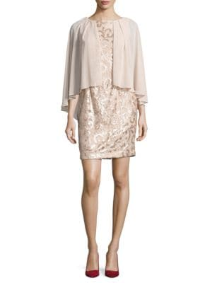 Sequined Shift Dress by Alex Evenings