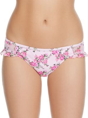 Lovers To Lovers Floral-Print Hipsters by Betsey Johnson