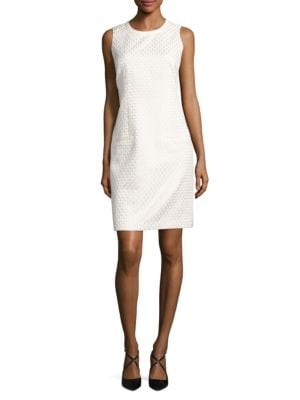 Sleeveless Textured Sheath Dress by Karl Lagerfeld Paris