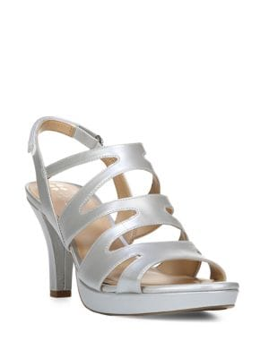 Image of Pressley Leather Cage Slingback Sandals