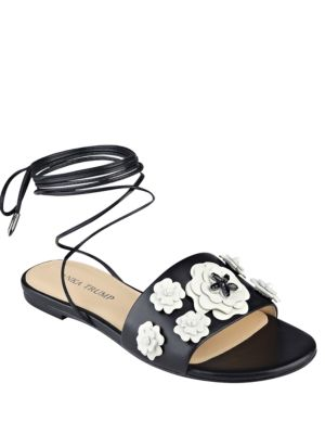Catera Leather Flat Sandals by Ivanka Trump