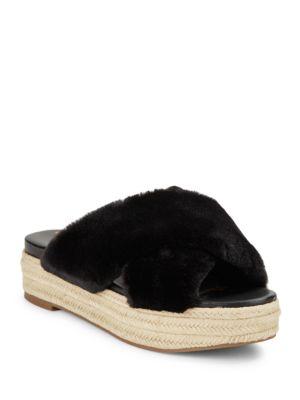 Zia Faux Fur Platform Sandals by Sam Edelman