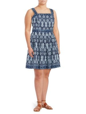 Medallion-Print Sleeveless Dress by Ivanka Trump