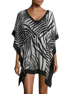 Kimono-Sleeved Asymmetrical Coverup by Calvin Klein