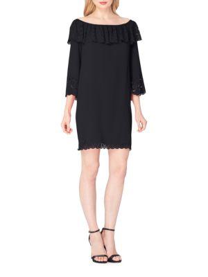 Draped Off-The-Shoulder Dress by Tahari Arthur S. Levine