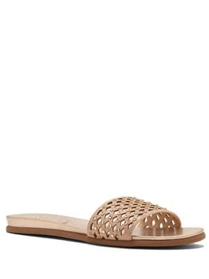 Emanda Leather Slide Sandals by Vince Camuto