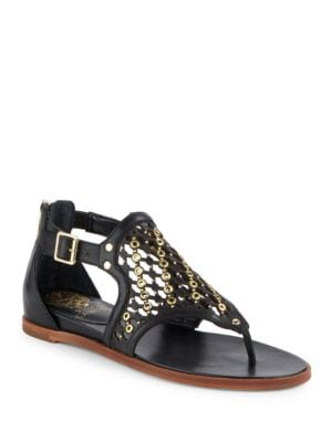 Embellished Leather Sandals by Vince Camuto