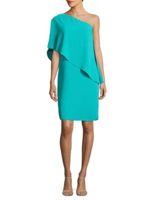 Solid One-Shoulder Dress by Carmen Marc Valvo