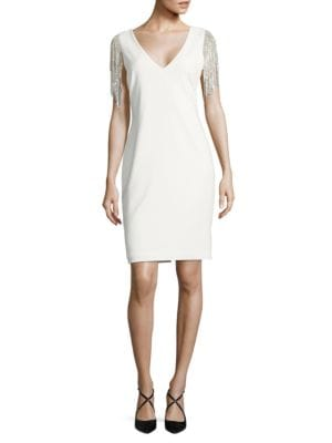 Sleeveless V-neck Dress by Badgley Mischka Platinum
